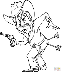 Click The Cowboy With Two Arrows In Butt Coloring Pages