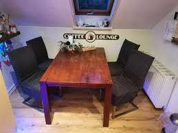 essgruppe esszimmer stühle leder tischmassiv holz küche sitzgrupp