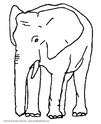African And Indian Elephants Coloring Page