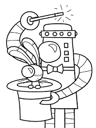 Free Printable Robot Music Coloring Page For Kids