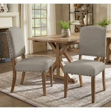 Benchwright Premium Nailhead Upholstered Dining Chairs (Set Of 2) By  INSPIRE Q Artisan Details About Set Of 2 Classic Parson Ding Chairs Living Room Nailhead Trim Tall Backrest Tan Parsons Merax Stylish Tufted Upholstered Fabric With Detail And Solid Wood Legs Beige Kaitlin Transitional Style Nailhead Trim 7 Piece Ding Set Chair Ginnys Armless Abbyson Sienna Leather Hooker Fniture Sorella Side Turned Lionel Modern Grey Wing Back Ambrosia Rustic Bar Wilson Home Ideas How To Make Black