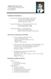 Resume Sample Format For Job Application Singapore