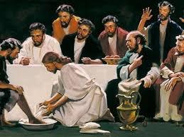Jesus Washing Disciples Feet Worship Coloring Page