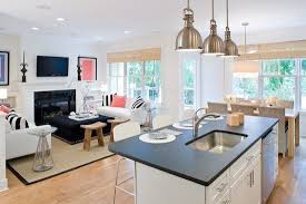 This Living Room Kitchen Combination Id COCOCOZY DESIGN IDEA DESIGNING A FASHIONABLE FRESH OPEN FLOOR PLAN WITH WHITE