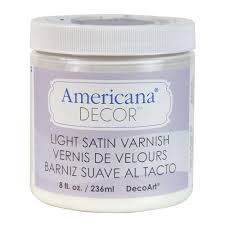 Americana Decor Creme Wax by Decoart Americana Decor 8 Oz Light Satin Varnish Adm05 45 The