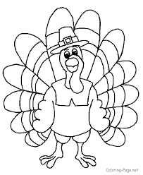 Bright And Modern Thanksgiving Coloring Page Turkey