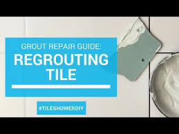 Diy Regrout Tile Floor by Regrouting A Tile Shower Or Bathroom Floor Youtube