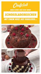 schokoladenkuchen mit eisgekühlter vanillemitte