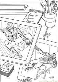 The Picture Of Spiderman Coloring Page Download
