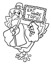 Funny Thanksgiving Turkey Coloring Pages