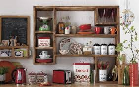 Wooden Ethnic Kitchen Shelves Appliances Decor Ideas