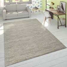 kurzflor teppich einfarbig anthrazit wohnzimmer teppich