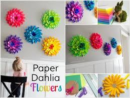 These Paper Dahlia Flowers Will Give You An Itch Of Crafting DahliaDahlia FlowersDahliasIdeas ParaDiy IdeasBedroom
