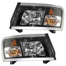 08-11 Dodge Dakota Pickup Truck Set Of Headlights - Black Bezel ... 2009 Dodge Ram Truck 1500 Headlight Protection Film Lampgard Bixenon Projector Retrofit Kit 2013 High Performance 1318 Ram Upgrade Harness Gen5diy For 092018 2500 3500 Led Tube Black Upgrades Anzo Halo Headlights Truckin Oracle 0205 Colorshift Rings Bulbs Smoked Recon Complete Custom Led Pods Headlights Page 2 Dodge Forum 1417 How To Lift Your Laws For Jeep Browning