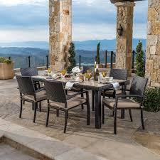 Portofino Patio Furniture Canada by Portofino 7 Piece Dining Set In Espresso