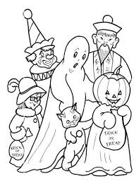 Costume Fun Halloween Coloring Pages For Kids