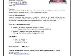 Resume Template Sample Format Letter Pdf Objectives For Call