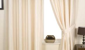 Faux Silk Eyelet Curtains by Ready Made Curtains Harmony Faux Silk Eyelet Curtains Curtains In