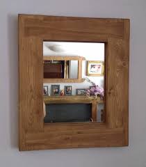 Rustic Industrial Bathroom Mirror by Designed And Handmade From Reclaimed Pine By Marc In Somerset