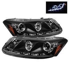 spyder auto honda accord 08 12 4dr projector headlights led