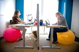 Stability Ball Desk Chair by Best Way To Sit At Desk Wecleanairducts