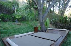 Outdoor Yoga Deck Around A Tree