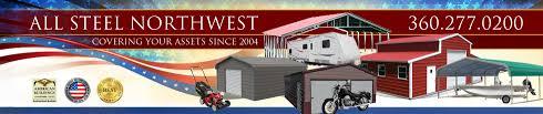 Loafing Shed Kits Oregon by All Steel Northwest Metal Garage Buildings U0026 Carports In Belfair Wa