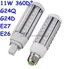 led pl l g24q 3 base 11w 9w 7w 5w replace cfl bulb 120v 230v