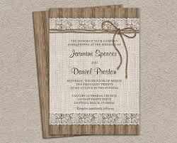 Wedding Invitations Burlap Beautiful Diy And Lace Ideas