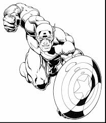 Incredible Marvel Super Heroes Coloring Pages With Hero Squad And