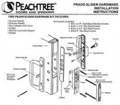 Peachtree Patio Door Glass Replacement by Peachtree Door And Window Repair And Replacement Hardware Parts