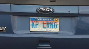 Teacher Keep Learning License Plates vanity tags