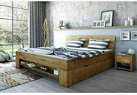 eternity moebel24 futonbett schlafzimmerbett massivholzbett wildeiche massiv geölt 140 x 200 cm inkl 4 bettkästen