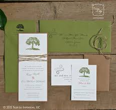 Rustic Tree Wedding Invitation With Twine