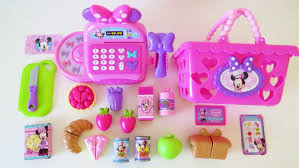 Dora Kitchen Play Set Walmart by Minnie Mouse Bowtastic Cash Register Shopping Basket Velcro