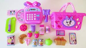 Dora The Explorer Kitchen Set Walmart by Minnie Mouse Bowtastic Cash Register Shopping Basket Velcro