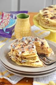 Pumpkin Cake Mix Pancakes by Cadbury Mini Egg Cake Batter Pancakes