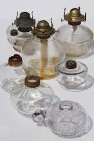antique oil ls lot collection of old glass l bases for