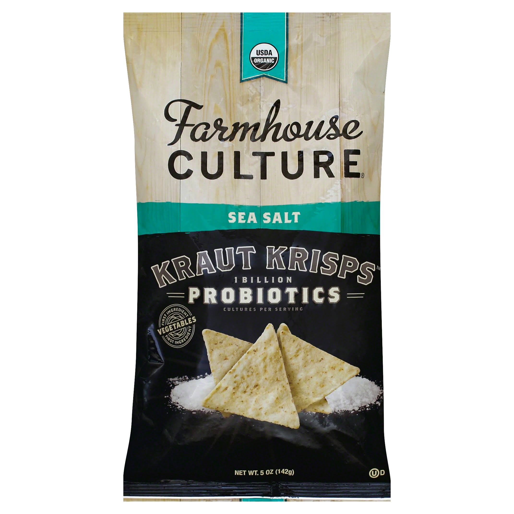 Farmhouse Culture Kraut Krisps, Sea Salt - 5 oz