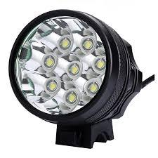 bike light 8 LED 9800 lumens Rechargeable Battery bike