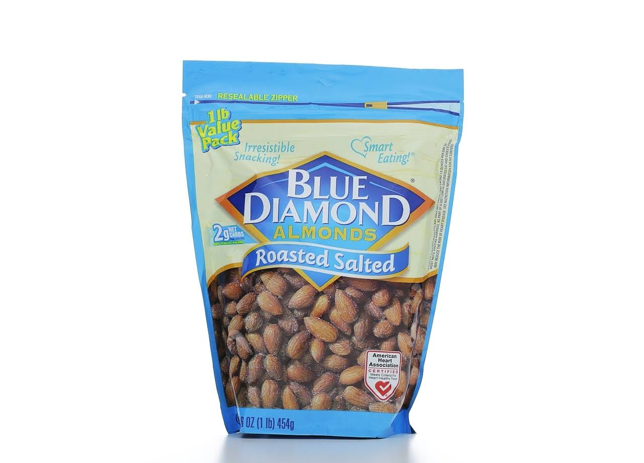 Blue Diamond Almond - Roasted Salted, 16oz