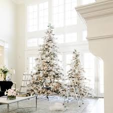 Slimline Christmas Tree by 12 Of The Best Flocked Christmas Trees In Every Size Chris Loves