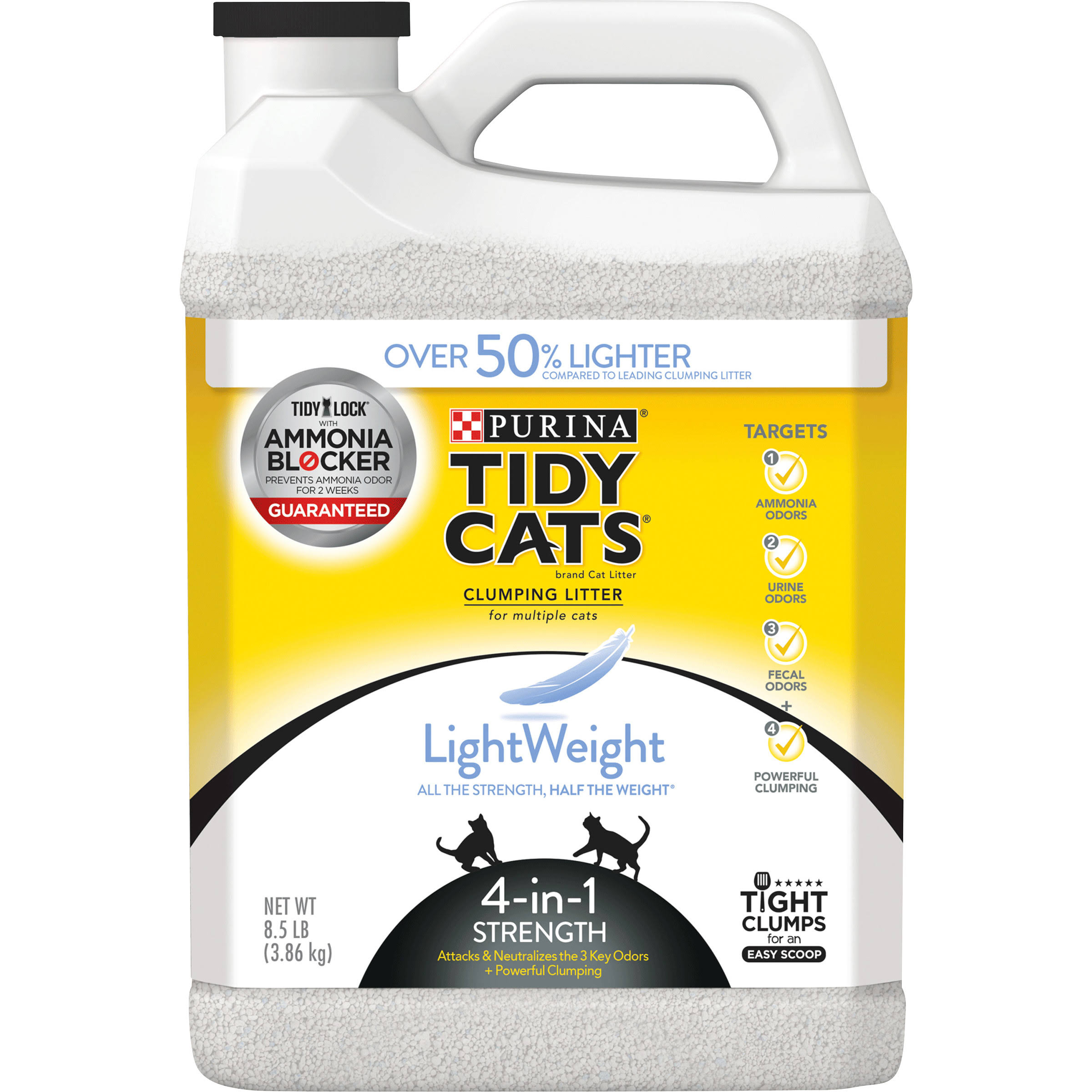 Purina Tidy Cats Light Weight 4-in-1 Strength Clumping Cat Litter - 8.5lb