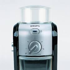 KRUPS GVX212 Coffee Grinder With Grind Size And Cup Selection Stainless Steel Conical Burr 8 Ounce Black
