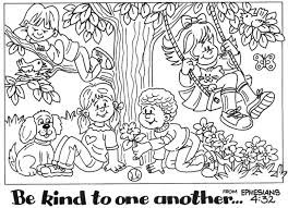 Poster Be Kind To One Another Inside Love Coloring Page
