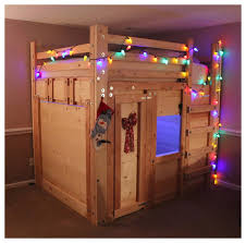 the bed fort built from queen loft bed plans traditional