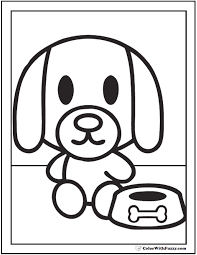 35 Dog Coloring Pages Breeds Bones And Houses