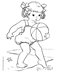 Free Printable Summer Coloring Pages At The Beach