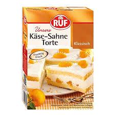 ruf käse sahne torte mit einer quark sahne creme und früchten 8er pack 8 x 350 g