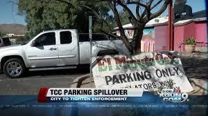 100 Truck Rental Tucson TCC Parking Spills Into Neighborhood